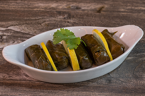 Turlish Meze and Tapas - Leaves stuffed with rice and herbs